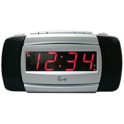 Equity By La Crosse 30240 Digital LED Alarm Clock, Silver