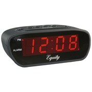 Equity By La Crosse 30902 Digital Truckers Table Clock, Black