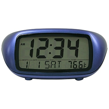 Equity by La Crosse™ LCD Alarm Clock, Blue