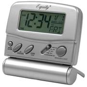 Equity By La Crosse 31302 Metal Digital Travel Alarm Clock, Silver