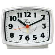 Equity By La Crosse 33100 Analog Alarm Clock, White