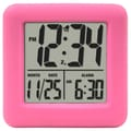 Equity by La Crosse™ Soft Cube LCD Alarm Clock, Pink
