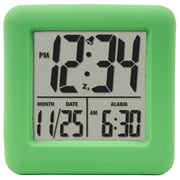 Equity By La Crosse 70903 Rubber Digital LCD Alarm Clock, Green