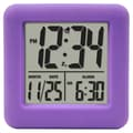 Equity by La Crosse™ Soft Cube LCD Alarm Clock, Purple
