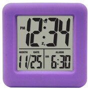 Equity By La Crosse 70904 Rubber Digital LCD Alarm Clock, Purple