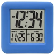 Equity By La Crosse 70905 Rubber Digital LCD Alarm Clock, Blue