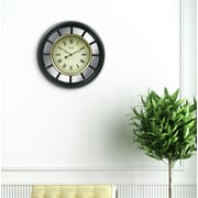Equity By La Crosse 82009 Plastic Analog Mirror Clock, Black