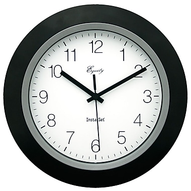 Equity by La Crosse™ 10in. InstaSet Wall Clock, Black