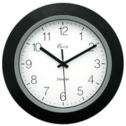 Equity By La Crosse 40222B Plastic Analog Wall Clock, Black