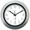 Equity by La Crosse™ 10in. InstaSet Wall Clock, Silver