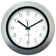 Equity By La Crosse 40222S Plastic Analog Wall Clock, Black/Silver