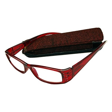 Computer Eyed Rhinestone +2.75 Optic Computer Reading Glasses, Red