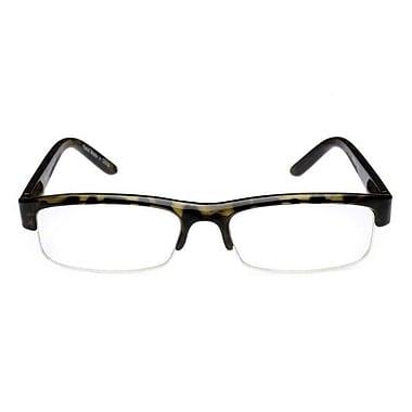 Computer Eyed Half Rim +2.50 Optic Computer Reading Glasses, Tortoise
