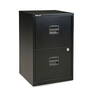 Bisley® 2-Drawer Steel Home Filing Cabinet, Black (FILE2-BK)