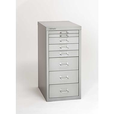 Bisley® 8-Drawer Steel Multidrawer Storage Cabinet, Light Gray (MD8-LG)