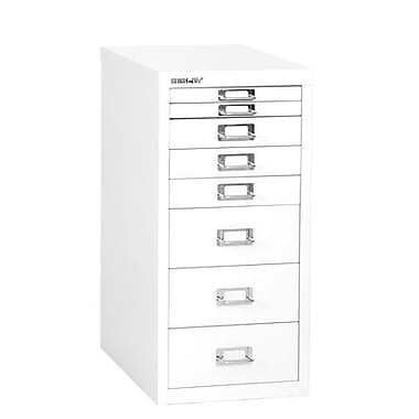 Bisley® 8 Drawer Steel Desktop Multidrawer Cabinet, White