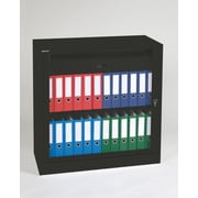 Bisley® 40 Binder & Supply Tambour Cabinet, Black
