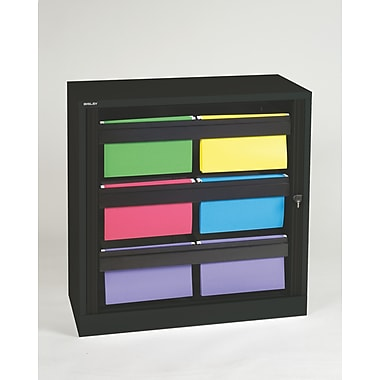 Bisley® 40in. Hanging File Folder Tambour Cabinet, Black