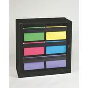 "Bisley® 40"" Premium Hanging File Folder Tambour Cabinet, Black (TAMK3-BK)"