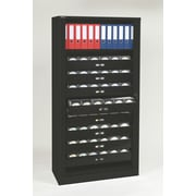 Bisley® 78 Multimedia Tambour Door Cabinet, Black