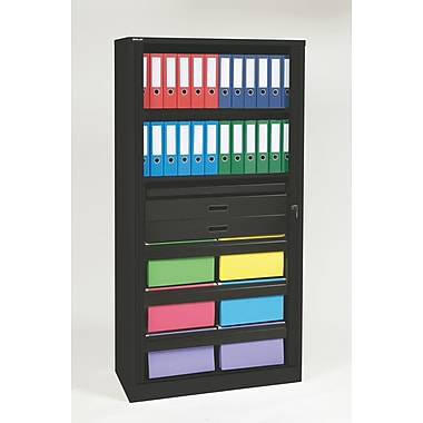Bisley® 78in. Office Filing & Storage Tambour Cabinets