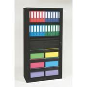 "Bisley® 78"" Premium Filing & Storage Tambour Cabinet, Black (TAMK5-BK)"