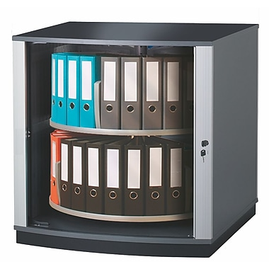 Moll® 37in. Two Tier Lockfile Carousel Cabinet, Graphite