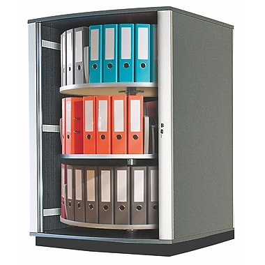 Moll® 51in. Three Tier Lockfile Carousel Cabinet, Graphite