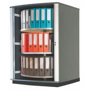 Moll® Lockfile Binder & File Carousel Cabinet, Three Tier, Graphite