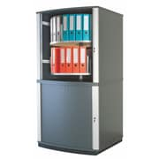 Moll® Lockfile Binder & File Carousel Cabinet, Four Tier, Graphite