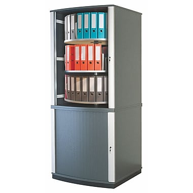 Moll® 85in. Five Tier Lockfile Carousel Cabinet, Graphite