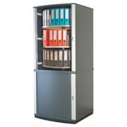 Moll® Lockfile Binder & File Carousel Cabinet, Five Tier, Graphite