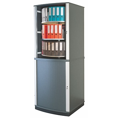 Moll® 99in. Six Tier Lockfile Carousel Cabinet, Graphite