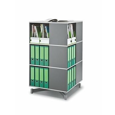 Moll® Cube Binder & File Carousel Shelving, Three Tier, Dark Gray (CUBE3)