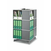 Moll® Square Three Tier Spin & Store Binder Storage Carousel, Graphite