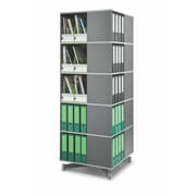 Moll® Cube Binder & File Carousel Shelving, Five Tier, Dark Gray (CUBE5)