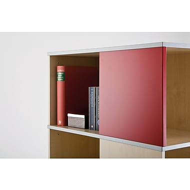 Moll® Magnetic Boards for Cube Binder & File Carousel Shelving, Red (CUBEMB-RD)