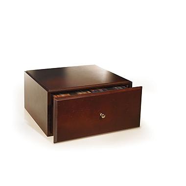 Bindertek Stacking Wood Desk Organizers Media Drawer, Mahogany (WMD-MA)