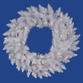 Vickerman 48in. Spruce Wreath With 260 PVC Tips & 150 Dura-Lit Clear Light, Sparkle White