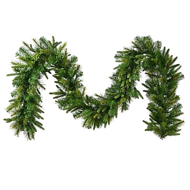 Vickerman 25' x 18in. Unlit Cashmere Pine Garland With 723 PE/PVC Tips
