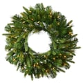 Vickerman 48in. Cashmere Pine Wreath With 280 PE/PVC Tips & 100 Dura-Lit Clear Light, Green