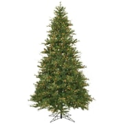 """Vickerman 9' x 61"""" Mixed Country Pine Tree With 1956 PVC Tips & 950 Dura-Lit Clear Light, Green"""