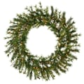Vickerman 48in. Mixed Country Pine Wreath With 220 Tips & 140 Dura-Lit Light, Green