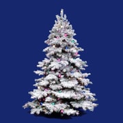 "Vickerman 6.5' x 62"" Alaskan Tree With 1045 PVC Tips & 600 Dura-Lit Clear Light, White On Green"