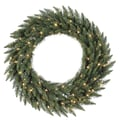 Vickerman 48in. Camdon Fir Wreath With 330 PVC Tips & 200 Italian LED Warm White Light, Green