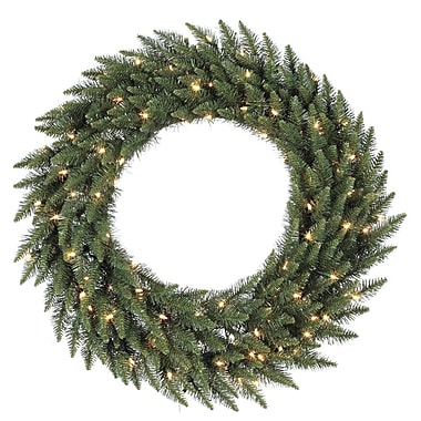 Vickerman 72in. Camdon Fir Wreath With 1020 Tips & 400 Clear Dura-Lit In/Out Light, Green