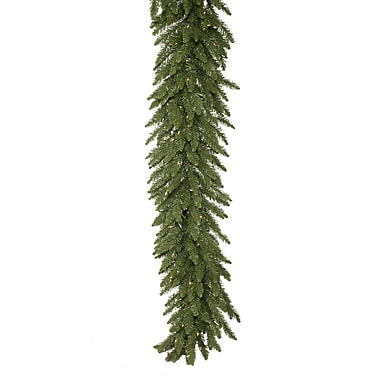 Vickerman 50' x 14in. Camdon Fir Garland With 550 Clear Dura-Lit In/Outdoor Lights and 1470 PVC Tips