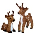 Vickerman 20in. One Standing and One Resting Unlit Reindeer Set
