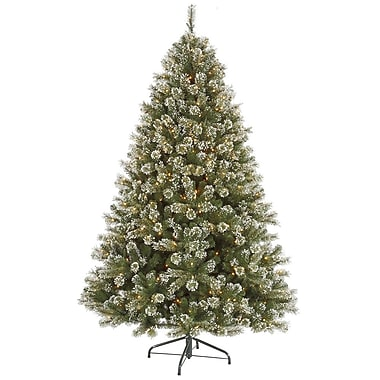 Vickerman 3' x 30in. Cashmere Tree With 262 PVC Tips & 100 Dura-Lit Clear Light, Frost