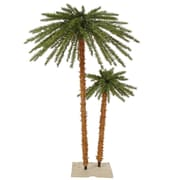 Vickerman 4', 6' Outdoor Palm Tree With 113 PVC Tips & 400 Clear Mini Light, Green